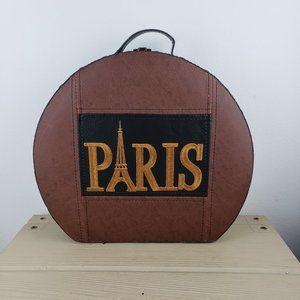 Paris Embroidered Hat Box